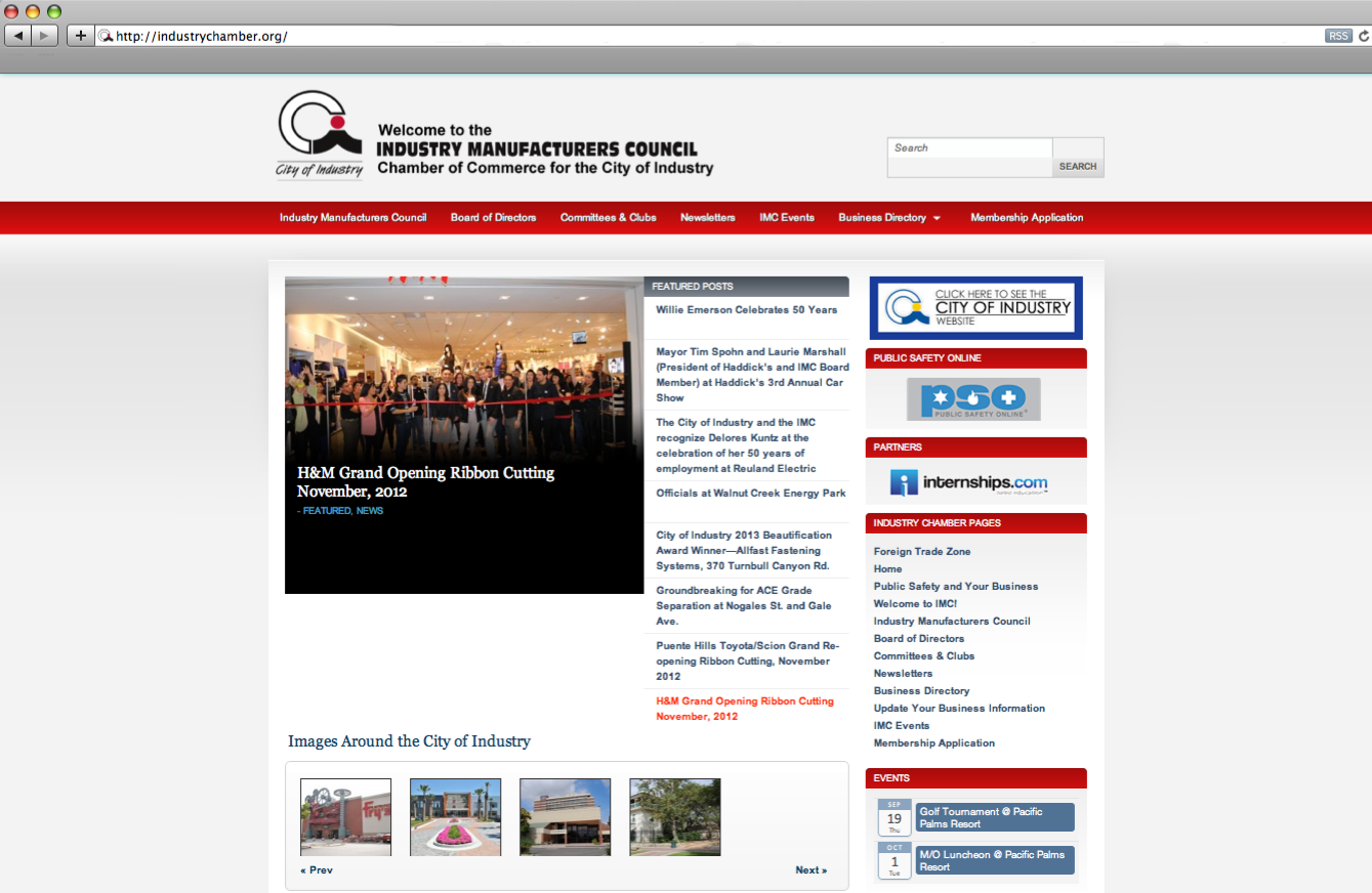 Website Database Development and Maintenance - Industry Chamber